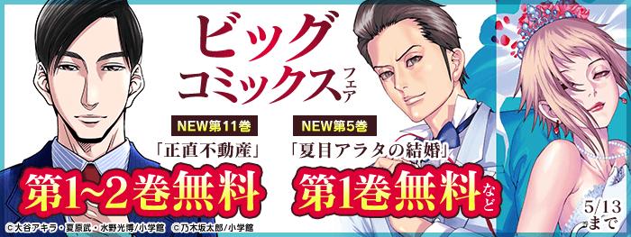 『夏目アラタの結婚』『正直不動産』ほか ビッグコミックス新刊配信記念
